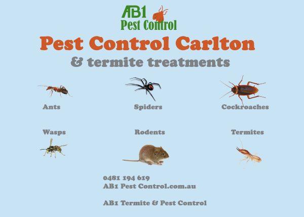 Carlton Pest Identification Card